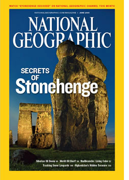 Stonehenge - National Geographic cover