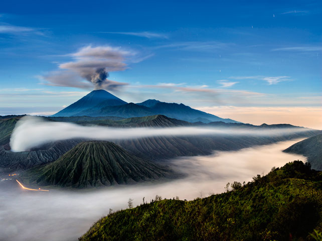 Photo: Volcanoes in East Java